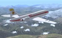 Screenshot of Iberia SE210 Caravelle in flight.