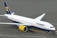 Screenshot of Icelandair Boeing 777-200LR on the ground.