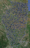 Overview of Illinois Airfields.