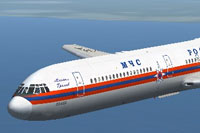 Screenshot of Ilyushin Il-62 in flight.