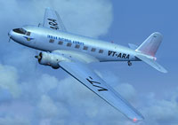 Screenshot of Indian National Airways Douglas DC-2 in flight.