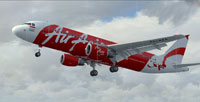 Screenshot of Indonesia Air Asia Airbus A320-200 taking off.