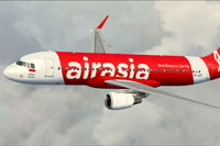 Screenshot of Indonesia Air Asia Airbus A320-200 in flight.