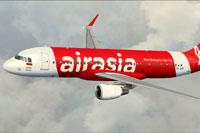 Screenshot of Indonesia Air Asia Airbus A320-200 in flight.