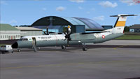 Screenshot of Indonesian Air Force Dash 8 Q400 on the ground.