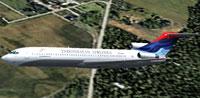 Screenshot of Indonesian Airlines Boeing 727-200 in flight.