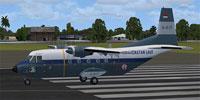 Screenshot of Indonesian Navy CASA 212-200 on runway.