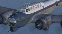Close up of Inter Island Air B-17 in flight.