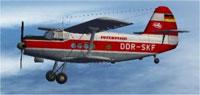 Screenshot of Interflug DDR An2T in flight.