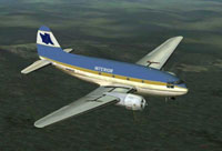 Screenshot of Interior Airways C-46 in flight.