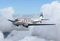 Screenshot of Intra Jersey Douglas DC-3 in flight.