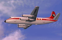 Screenshot of Invicta Vickers Viscount 755D in flight.