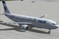 Screenshot of Iran Air A300-600 on the ground.