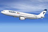Screenshot of Iran Air Airbus A300-600 in flight.