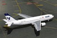 Screenshot of Iran Air Airbus A300B2 on the ground.