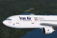 Screenshot of Iran Air Airbus A300B2 in flight.