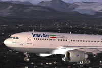 Screenshot of Iran Air Airbus A310-300 in flight.