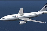 Screenshot of Iran Air Airbus A310-304 in flight.