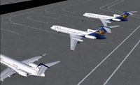 Screenshot of Iran Air Tours fleet on the ground.