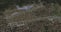 Aerial view of Air Base in Iraq.