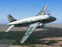 Screenshot of Iraqi Airways Vickers Viking in flight.
