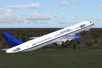 Screenshot of Ireland Direct A321-200 in the air.