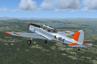 Screenshot of Irish Air Corps de Havilland Chipmunk in flight.