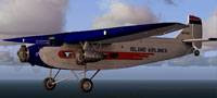 Screenshot of Island Airlines Ford Trimotor in flight.