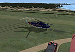 Screenshot of Isles Of Scilly Helicopter on the ground.