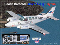 Screenshot of Isles Of Scilly Skybus Baron 58 in flight.
