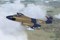 Screenshot of Israeli Camo Gloster Meteor FR9 in flight.