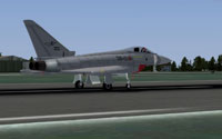 Screenshot of Italian Air Force Eurofighter Typhoon on runway.