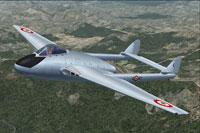 Screenshot of Italian de Havilland Vampire FB5 in flight.
