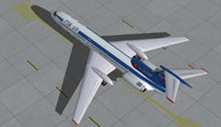Screenshot of Itek-Air Tupolev Tu-154B-2 on the ground.