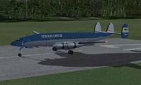 Screenshot of JCA Lockheed L1049H Constellation on the runway.