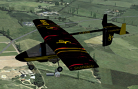 Screenshot of JPS Streak Shadow in flight.