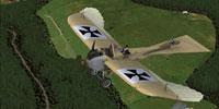 Screenshot of Jeannin Taube in flight.