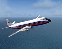 Screenshot of Jersey European Viscount 815 in flight.