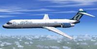 Screenshot of Jet City Aircraft Boeing 717-200 in flight.