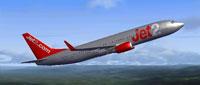 Screenshot of Jet2 Boeing 737-800 in flight.