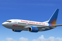 Screenshot of Jet2 Holidays Boeing 737-600 in flight.