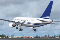 Screenshot of JetAlliance Airbus A318-112 CJ Elite taking off.