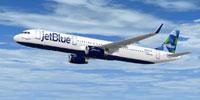 Screenshot of JetBlue Airbus A321-200 in flight.