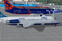 Screenshot of JetBlue McDonnell Douglas DC-9-20 on the ground.