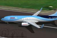Screenshot of Jetairfly Boeing 737-800W taxiing to runway.