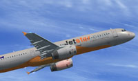 Screenshot of Jetstar Airbus A321 in flight.