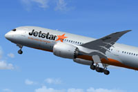 Screenshot of Jetstar Airways Boeing 787-8 taking off.