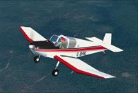 Screenshot of Jodel D112 G-BHNL in flight.