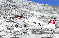 Screenshot of Jodel D112 HB-SVV in flight.
