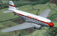 Screenshot of Johnson Flying Service Douglas DC-2 in flight.